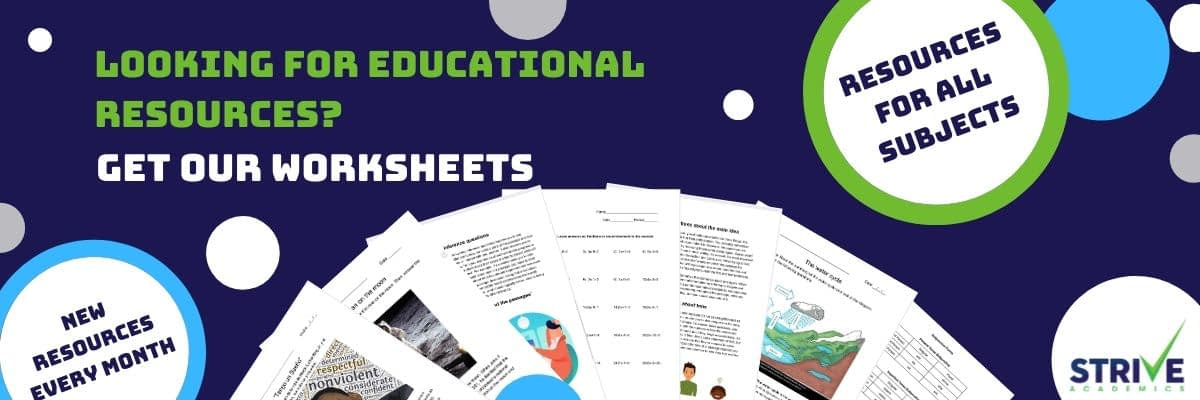 Strive Academics Worksheets Main Banner(1)
