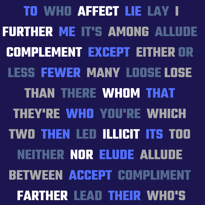 Have you ever mistaken one of these commonly mistaken words?