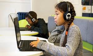Girl online tutoring