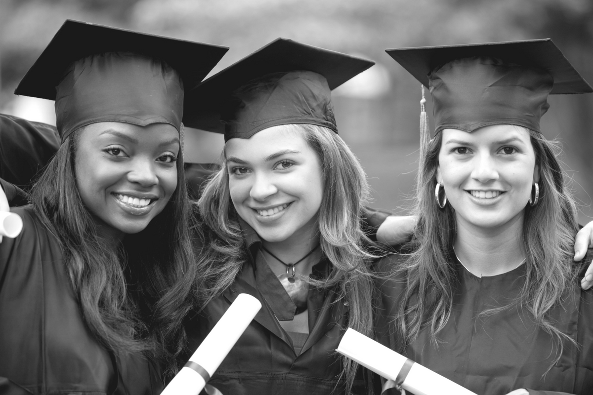 Graduating Female Students -BW